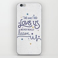 dumbledore iPhone & iPod Skins featuring Never leave us by Earthlightened