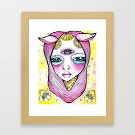 Mildred was Stuck Between Life and Death Framed Art Print