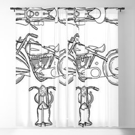 Henderson Motorcycle Prototype Streamliner Main Spec Pre-Patent Drawing Blackout Curtain