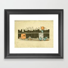 El plan Framed Art Print