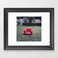 vintage red sofa Framed Art Print