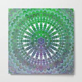 Spring Mandala Wheel Metal Print