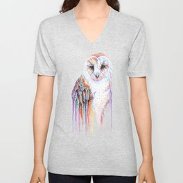 Colorful Owl Unisex V-Neck