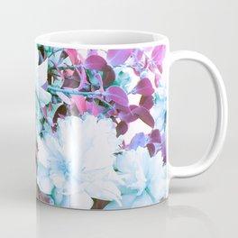 Pink Blue Green Flowers Coffee Mug