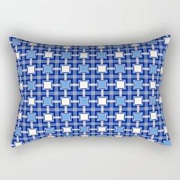 Blue Block Pattern Rectangular Pillow