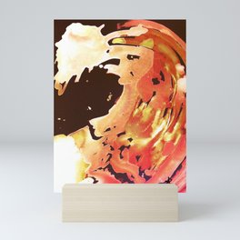 Rose Gold Wave Mini Art Print