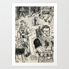 Mercs Art Print