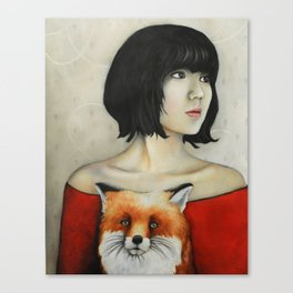 Nine Tales Of The Fox Canvas Print