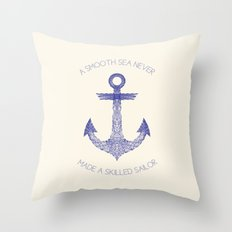 Smooth Sea Throw Pillow