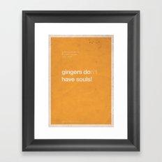 Gingers - Meme Movie Posters Framed Art Print