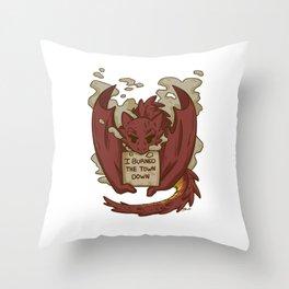 Creature Shaming Dragon Throw Pillow
