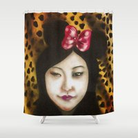 minnie Shower Curtains featuring minnie by NAME THEGREY