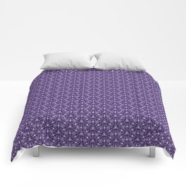 Feminine Energy Deep Purple and Lavender Lines Female Spirit Organic Comforters