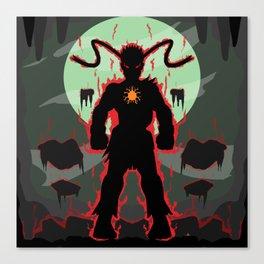 Evil Ryu Cutout Canvas Print