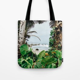 The surfer's spot in Barbados Tote Bag