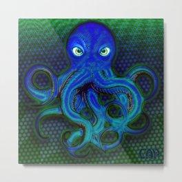 Mister Moody Blue Octopus Metal Print