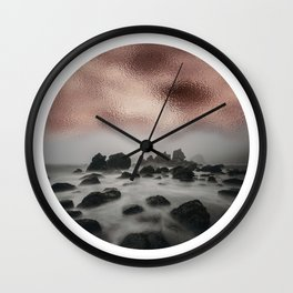 Rose Gold Seascape Orb Wall Clock