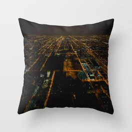 Lights for Miles and Miles #1 (Chicago Architecture Series) Throw Pillow