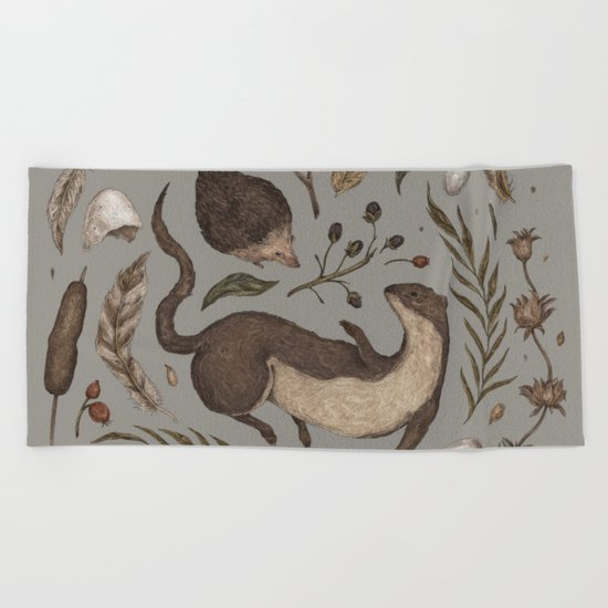 Weasel and Hedgehog Beach Towel