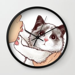 Cat : Don't kiss Wall Clock