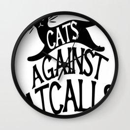 Cats against Catcalls 2 Wall Clock