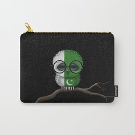Baby Owl with Glasses and Pakistani Flag Carry-All Pouch