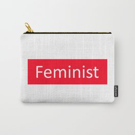 Feminist Red Rectangle Carry-All Pouch
