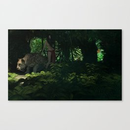 ff mujer selva Canvas Print
