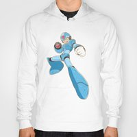 mega man Hoodies featuring Mega-Man by HypersVE