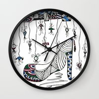 shoe Wall Clocks featuring Shoe by Kimberly McGuiness