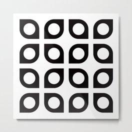 Geometric Pattern #37 (curves circles) Metal Print
