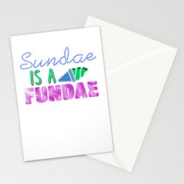 Sundae is a Fundae 3 Stationery Cards