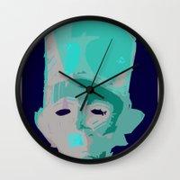 tokyo ghoul Wall Clocks featuring Ghoul by Pietari Saimovaara