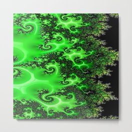 Green Lace Metal Print