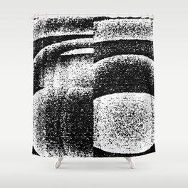 Monochrome Shades Shower Curtain