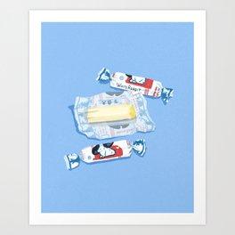 White Rabbit Milk Candy Art Print
