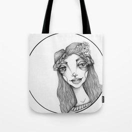 JennyMannoArt Graphite Illustration/Beach Sprite Tote Bag