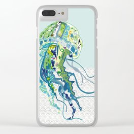 J is for Jellyfish Clear iPhone Case