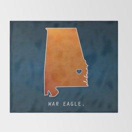 War Eagle Throw Blanket