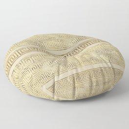 Greek Meander Pattern - Greek Key Ornament Floor Pillow