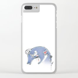 go vegan,vegan, love, heart, corazon Clear iPhone Case