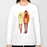 snk Long Sleeve T-shirts featuring Ymir and Historia by rhymewithrachel