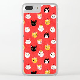 Christmas Kitties Clear iPhone Case