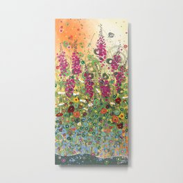 Fireweed in Melon Metal Print