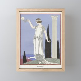 Minhuit  ou lappartement a la mode Plate no 7 (1920) fashion  in high resolution by George Barbier Framed Mini Art Print