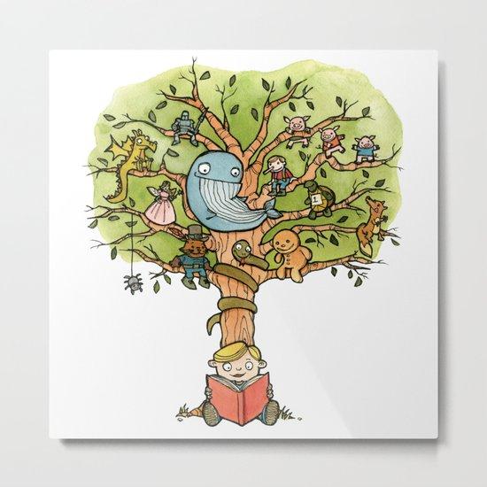StoryTime Tree Metal Print