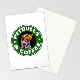 Colourful Pit Bulls, pitbull gift Stationery Cards