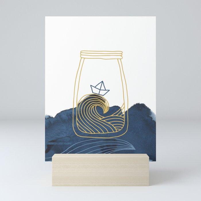 Bottled Sea Mini Art Print