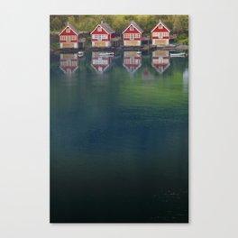 4 HOUSES Canvas Print