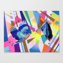 Geo Fly Birds Canvas Print
